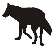 Wolf Silhouette v5 Decal Sticker