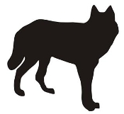 Wolf Silhouette v6 Decal Sticker
