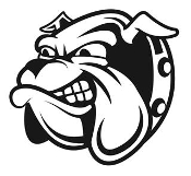Bulldog Head v7 Decal Sticker
