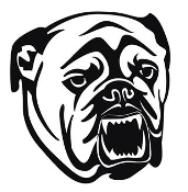 Bulldog Head v8 Decal Sticker