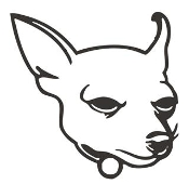 Chihuahua Head v3 Decal Sticker