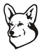 Corgi Head Decal Sticker