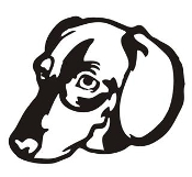 Dachshund Head Decal Sticker