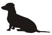 Dachshund Silhouette v1 Decal Sticker