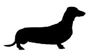 Dachshund Silhouette v2 Decal Sticker