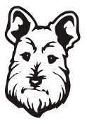 Dog Head v3 Decal Sticker