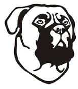 Dog Head v4 Decal Sticker