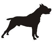 Dog Silhouette v1 Decal Sticker