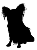 Dog Silhouette v10 Decal Sticker
