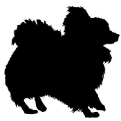 Dog Silhouette v11 Decal Sticker