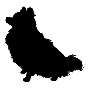 Dog Silhouette v12 Decal Sticker