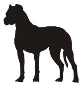 Dog Silhouette v2 Decal Sticker
