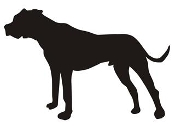 Dog Silhouette v3 Decal Sticker