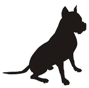 Dog Silhouette v4 Decal Sticker
