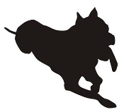 Dog Silhouette v5 Decal Sticker