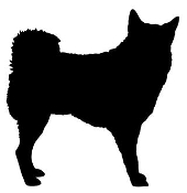Dog Silhouette v7 Decal Sticker