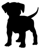 Dog Silhouette v8 Decal Sticker