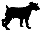 Dog Silhouette v9 Decal Sticker