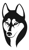 Husky Head v3 Decal Sticker