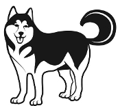 Husky Decal Sticker