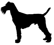 Irish Terrier Silhouette Decal Sticker