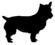 Norwich Terrier Silhouette Decal Sticker