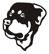 Rottweiler Head v3 Decal Sticker