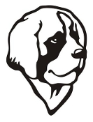 Saint Bernard Head Decal Sticker
