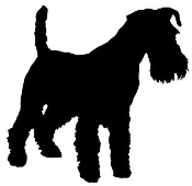 Schnauzer Silhouette Decal Sticker