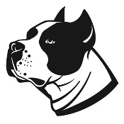 Stafford Bull Terrier Head v2 Decal Sticker