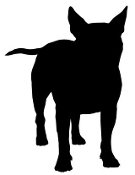 Staffordshire Bull Terrier Silouette Decal Sticker