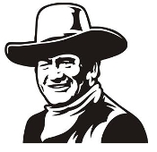 John Wayne v4 Decal Sticker