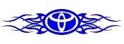 Toyota Tribal v3 Decal Sticker