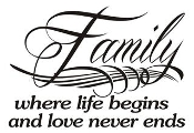 Family Where Life Begins Decal