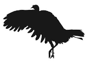 Turkey Silhouette v6 Decal Sticker
