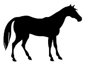 Horse Silhouette v3 Decal Sticker