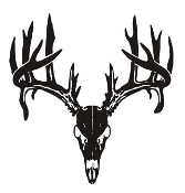Deer Skull v5 Decal Sticker