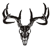 Deer Skull v6 Decal Sticker