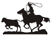 Calf Roping Silhouette v5 Decal Sticker