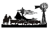 Cowboy Western Scene v4 Decal Sticker