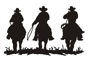 Cowboys on Horseback Decal Sticker