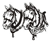 Draft Horse Heads v2 Decal Sticker