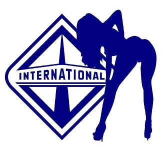 International Girl v10 Decal Sticker