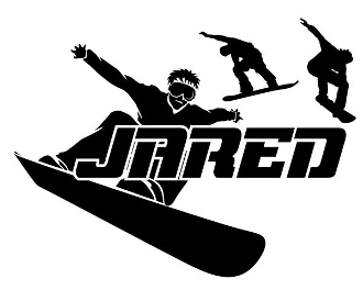 Personalized Name with Snowboarders Decal Sticker
