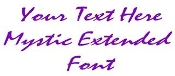 Mystic Extended Font Decal Sticker