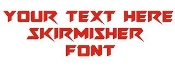 Skirmisher Font Decal Sticker