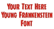 Young Frankenstein Font Decal Sticker