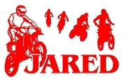 Personalized Motocross Racer Name Decal Sticker
