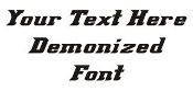 Demonized Font Decal