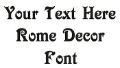 Rome Decor Font Decal
